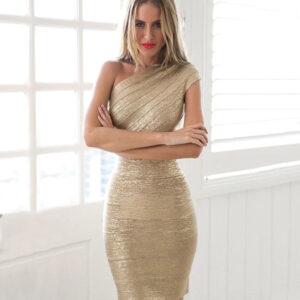 Rochie Bandage Gold